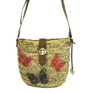 GIANI BERNINI  Natural Straw Crossbody Bag:$139.00